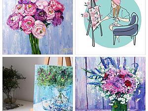 Мастер Класс  по живописи 5 марта | Ярмарка Мастеров - ручная работа, handmade