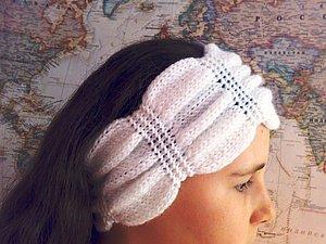 Вяжем повязку на голову «жатка». Ярмарка Мастеров - ручная работа, handmade.