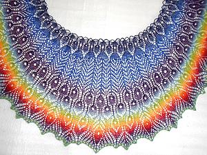 Птица Гамаюн - мастер-класс по вязанию ажурной шали спицами | Ярмарка Мастеров - ручная работа, handmade