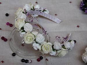 Декорируем ободок для волос «Нежная роза». Ярмарка Мастеров - ручная работа, handmade.