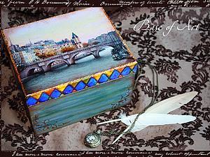 """Шкатулка """"Старый город"""".. Ярмарка Мастеров - ручная работа, handmade."""