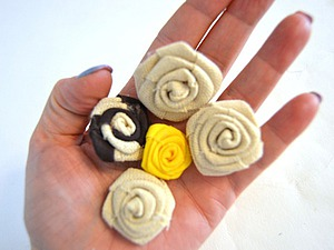 Делаем розочки из ткани | Ярмарка Мастеров - ручная работа, handmade