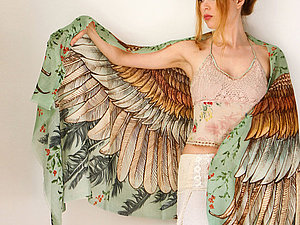 Крылатые палантины Shovava | Ярмарка Мастеров - ручная работа, handmade