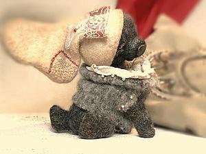 Аукцион!!! Мой самый новогодний медвежонок!!! | Ярмарка Мастеров - ручная работа, handmade