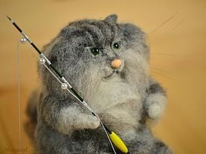 Войлочная игрушка Норвежский лесной кот | Ярмарка Мастеров - ручная работа, handmade