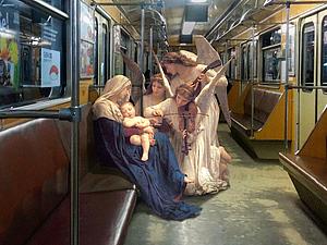 Персонажи средневековых картин в современном городе в коллажах Алексея Кондакова. Ярмарка Мастеров - ручная работа, handmade.