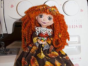 Кукла Осень. Часть 4. Ободок из листев для куклы. Ярмарка Мастеров - ручная работа, handmade.