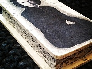 МК по декупажу и одношаговому кракелюру на деревянной основе (купюрница) | Ярмарка Мастеров - ручная работа, handmade