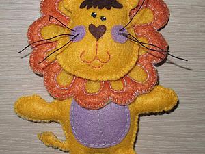 Шьем из фетра забавного львенка. Ярмарка Мастеров - ручная работа, handmade.