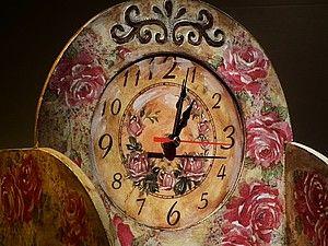 Часы. Состаривание в стиле прованс. С бейцами. | Ярмарка Мастеров - ручная работа, handmade