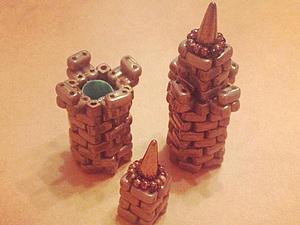 Строим свой собственный замок. Часть 2. Зубцы, верхняя часть башни и сборка частей в одно целое. Ярмарка Мастеров - ручная работа, handmade.