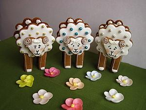 Готовить может каждый! Объемные Пасхальные пряничные барашки. handmade