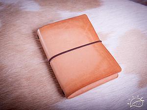 Мастер-класс: записная книжка путешественника из натуральной кожи. Ярмарка Мастеров - ручная работа, handmade.
