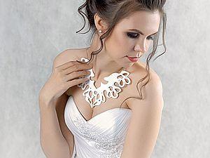 Создаем прекрасное украшение из фетра для невесты «Снежная королева». Ярмарка Мастеров - ручная работа, handmade.