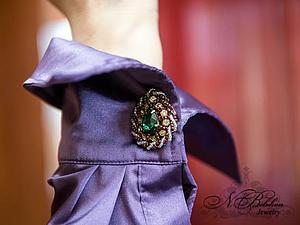 Мастер-класс по вышивке бисером: запонки | Ярмарка Мастеров - ручная работа, handmade