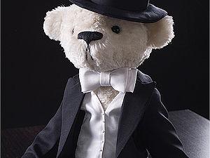 Свадебный цилиндр для мишки Тедди | Ярмарка Мастеров - ручная работа, handmade