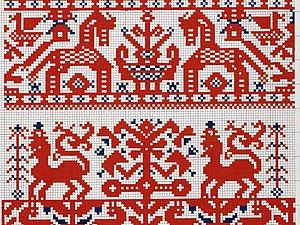 Традиционные орнаменты из старинного сборника узоров для вышивания крестом. Ярмарка Мастеров - ручная работа, handmade.