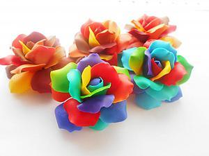 Видео мастер-класс: делаем радужные розы с переходом цвета. Ярмарка Мастеров - ручная работа, handmade.