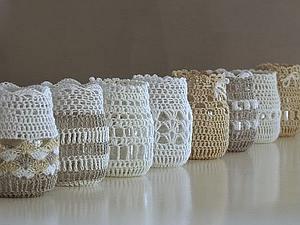 Идеи вязаных  мелочей для дома | Ярмарка Мастеров - ручная работа, handmade