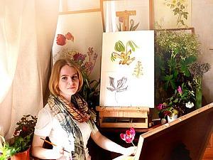 Прекрасные ботанические акварели Светланы Лансе | Ярмарка Мастеров - ручная работа, handmade