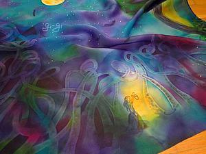 Свободная роспись: платок