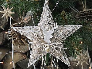 Рождественская звезда своими руками | Ярмарка Мастеров - ручная работа, handmade