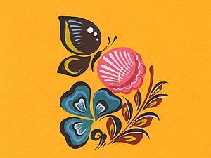 Видео мастер-класс: городецкая роспись «Бабочка и цветок». Ярмарка Мастеров - ручная работа, handmade.