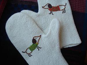 Вышивка по вязаному полотну по петлям