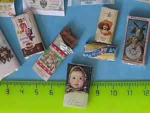 Ретро шоколад для кукол | Ярмарка Мастеров - ручная работа, handmade