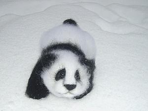 Вяжем крючком панду. Ярмарка Мастеров - ручная работа, handmade.