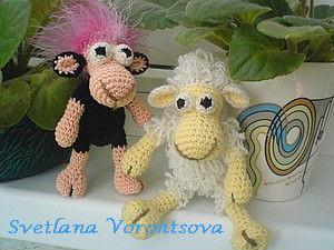 Вяжем крючком маленьких овечек. Ярмарка Мастеров - ручная работа, handmade.