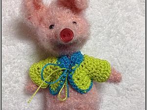 Вяжем крючком игрушечную кофточку с регланом. Ярмарка Мастеров - ручная работа, handmade.
