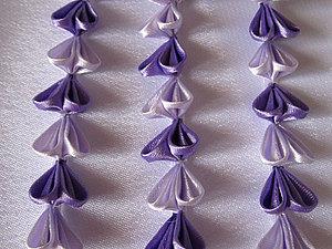 Канзаши. Шидаре. | Ярмарка Мастеров - ручная работа, handmade