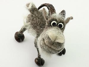 Все козлы - сухое валяние миниатюрной игрушки   Ярмарка Мастеров - ручная работа, handmade