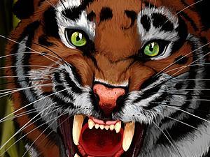 Рисуем тигра в Adobe Photoshop. Ярмарка Мастеров - ручная работа, handmade.