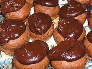 Кексики  с  шоколадной глазурью,  горькие  и  глазури  много! | Ярмарка Мастеров - ручная работа, handmade