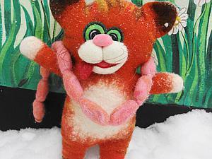 «Как кот украл сосиски»: делаем перчаточную игрушку на шаблоне. Часть 2. Ярмарка Мастеров - ручная работа, handmade.