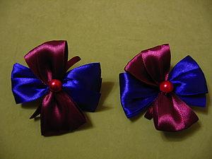 Резинки для волос атласные бантики Ярмарка Мастеров - ручная работа, handmade.