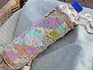 Шьем из обрезков чехол для бутылки. Ярмарка Мастеров - ручная работа, handmade.