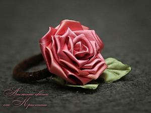 Делаем розу в технике канзаши. Ярмарка Мастеров - ручная работа, handmade.