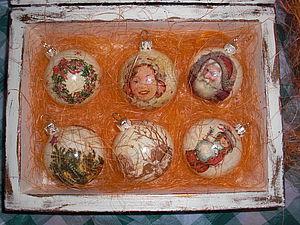 Винтажные новогодние шары своими руками