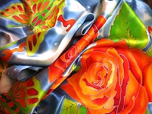 Воспоминание О Лете.(шарф)мастер-класс.холодный батик.. Ярмарка Мастеров - ручная работа, handmade.