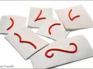 Мастер-класс по технике вышивки контура изделия из бисера. Ярмарка Мастеров - ручная работа, handmade.