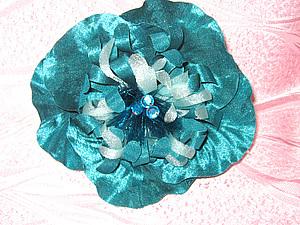 Цветы из ткани без применения булек(только руками) | Ярмарка Мастеров - ручная работа, handmade