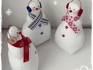 Снеговичок в подарок!!! | Ярмарка Мастеров - ручная работа, handmade