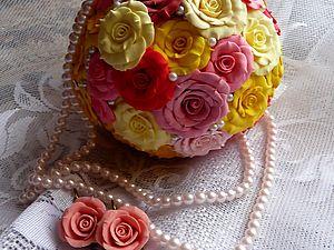 Букет и серьги | Ярмарка Мастеров - ручная работа, handmade