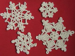 Простые, но эффектные новогодние снежинки крючком. Часть 2 | Ярмарка Мастеров - ручная работа, handmade