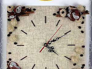 Часы с кофе, корицей и ванилью | Ярмарка Мастеров - ручная работа, handmade