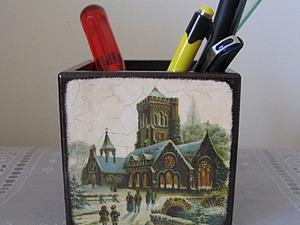 Карандашница «Старый замок». Ярмарка Мастеров - ручная работа, handmade.