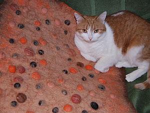 Валяем массажный коврик для ванной комнаты | Ярмарка Мастеров - ручная работа, handmade